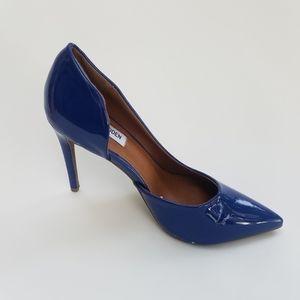 NWOT Steve Madden Preme Patent Blue Stiletto  8.5